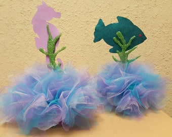 Under the Sea Party  tulle centerpiece