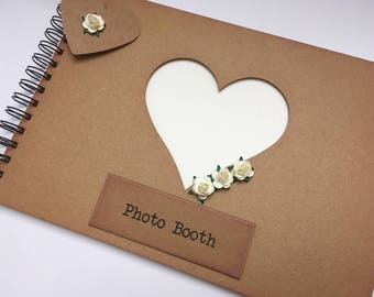 photo booth memory book scrapbook album keepsake gift for the bride rustic hen bachelorette party wedding gift