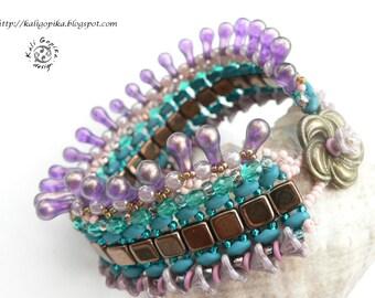"Beaded bracelet ""Minerva"""