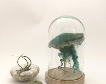 Jellyfish-light in a bell jar_ Petrol-green