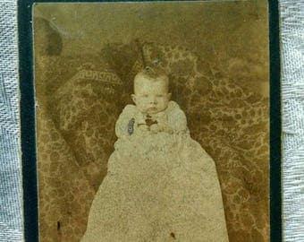 Baby in Christening Gown Cabinet Card, Vintage, I.N. Cushner