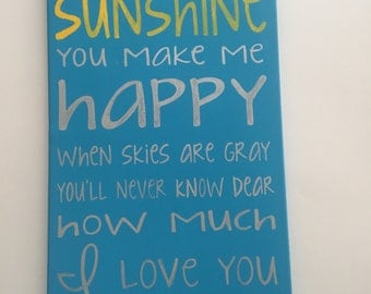SALE - You are my Sunshine Canvas - Inventory Sale
