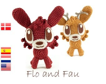 Crochet pattern Flo and Fau