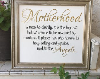 Motherhood Sign
