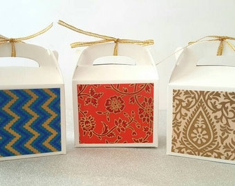 Favor boxes / wedding favor boxes / indian wedding favors / indian wedding