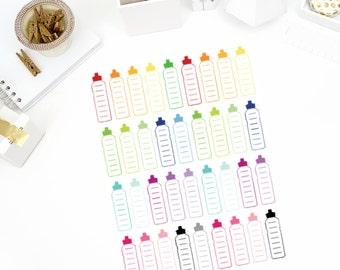 Water Bottle Stickers! Perfect for your Erin Condren Life Planner, calendar, Paper Plum, Filofax!
