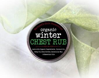 Organic Chest Rub / Chest Rub / Menthol Rub / Organic Skin Care / Skin Care / Natural Chest Rub / Essential Oil Rub / Essential Oils