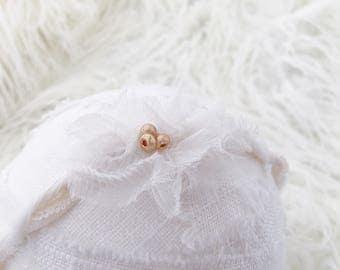 Newborn Photography Prop Headband {Rose Gold & Silk}