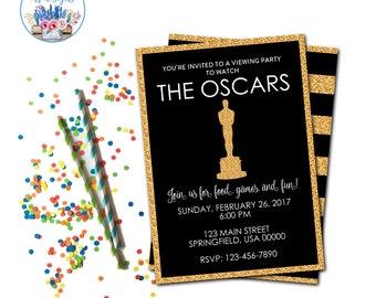 Oscar Party Invitation, Oscar Viewing Party, Academy Awards Invite