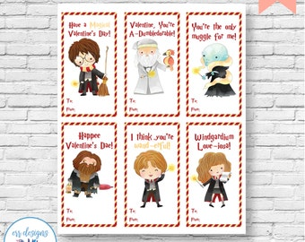 Harry Potter Valentines, Harry Potter Valentine's Day Cards