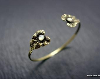 Bracelet art deco leaves