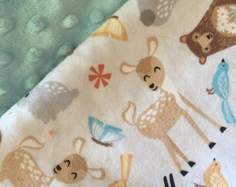 Woodland Creatures Baby Blanket