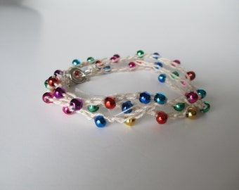 Convertable Wrapped Crochet Beaded Bracelet/Necklace