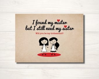 I found my mister but I still need my sister Card