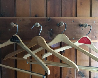 Vintage Wooden Hangers  Set of 6