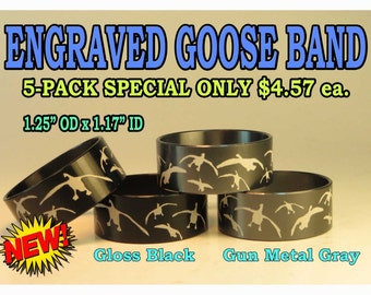 Duck Call Laser Engraved Bands With Your Logo On Black Or Gun