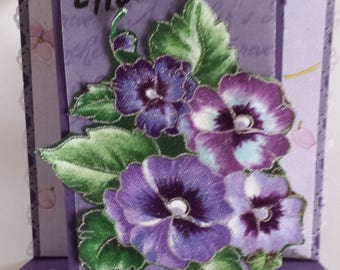 Mother's Day Pansy Step Card