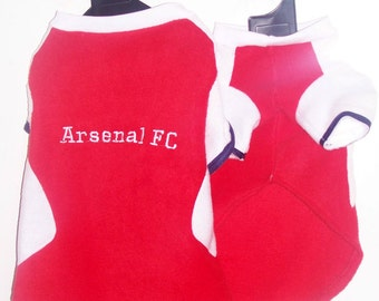 Arsenal FC Polar Fleece Dog Coat