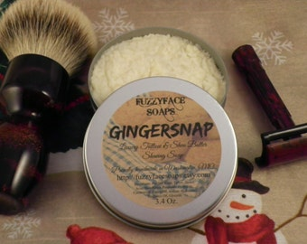 GINGERSNAP Luxury Tallow & Shea Butter Shaving Soap Seasonal Limited Edition