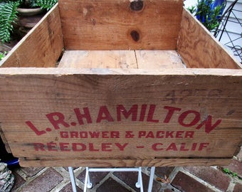 Vintage L.R. Hamilton Grower & Packer Wood Crate