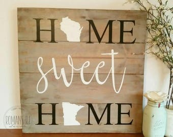 Home sweet home different states 2 states home sweet home sign