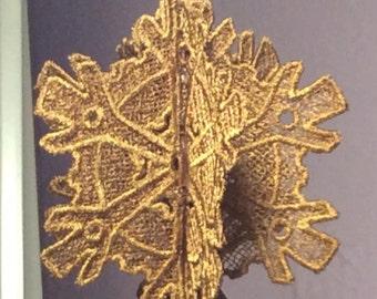 3D Steampunk Lace Tree Ornament