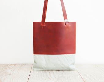 light leather purse of HAEUTE, colorful shoulder bag, finest handicraft