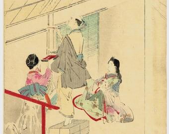"1891, Japanese antique woodblock print, Kikuchi Yosai, ""Oishi Yoshio"""