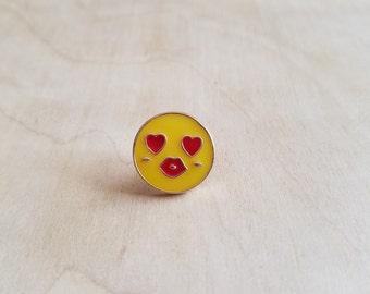 Heart Eye Emoji Enamel Pin
