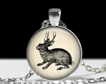 Jackalope Jewelry Jackalope Necklace Pendant Steampunk Gift Steampunk Jewelry Gift for Her