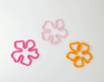 Set of 3 Hibiscus Flowers, Hibiscus Flower Decor, Tropical Wall Art, Hibiscus, Tropical Party Decor