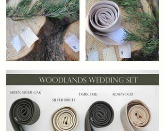 No#185,157,289woodlands wonder heathered neckties,wood-like, champagne,neutral ties,groomsmen,men,light dark champagne woodland wedding ties