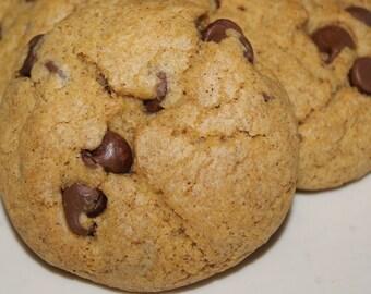 Pumpkin Chocolate Chip Cookies - Easter Cookies, Easter Basket Filler, one dozen, made to order, homemade, fall dessert, edible gift, autumn