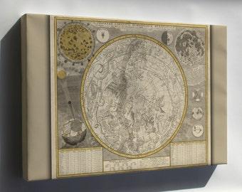Canvas 24x36; Astrology Zodiac Constellation Map 1700