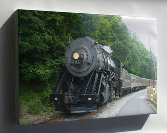 Canvas 24x36; Maryland Railroad Steam Engine, 2-8-0 Locomotive Built 1916