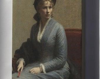 Canvas 24x36; Henri Fantin Latour Portrait Of Mlle C. D, 1882
