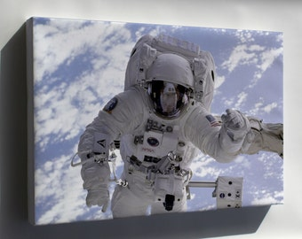Items similar to applique art quilt spacewalk bunny for Space shuttle quilt