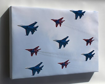 Canvas 24x36; The Big Nine - Flight Groups Russian Knights And Strizhi