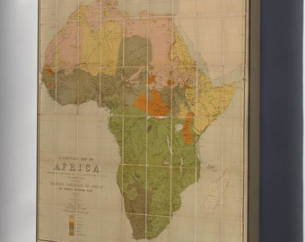 Canvas 16x24; Language Map Of Africa 1883