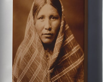 Canvas 16x24; Nespelem Woman, Native American Indian Photo By Curtis, 1911