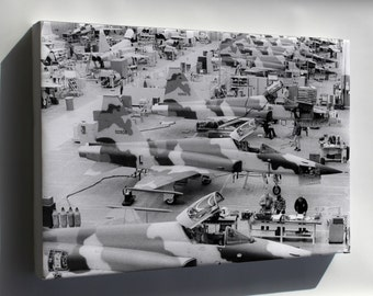 Canvas 16x24; Northrop F-5 E Tiger Ii Hawthorne Plant Pre 1974 P2