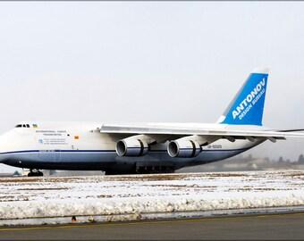 16x24 Poster; Antonov An-124 Taxis In At Spangdahlem Air Base
