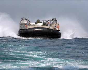 16x24 Poster; Lcac Hovercraft From Landing Craft Unit 4