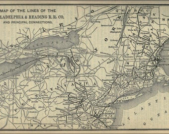 16x24 Poster; 1893 Poor'S Philadelphia And Reading Railroad