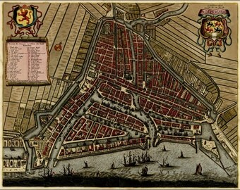 16x24 Poster; Map Of Rotterdam, Holland, Netherlands 1709