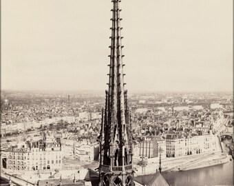 16x24 Poster; Notre Dame, Paris, France 1859