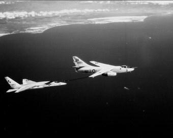 16x24 Poster; Ra-5C Vigilante (Rvah-13) Bats Refuels From Ka-3B Skywarrior 1965