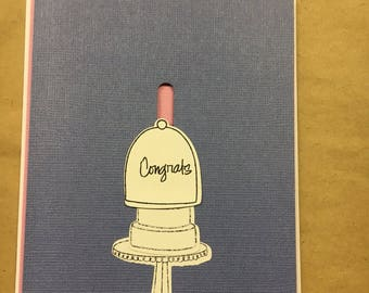 Moving 3-D Wedding/Engagement Card