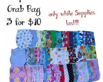 Grab Bag Burpcloth Burppad  Baby Gift Shower While they last 3 for 10