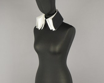 5-ply designer removable collar Haute Couture designer collar